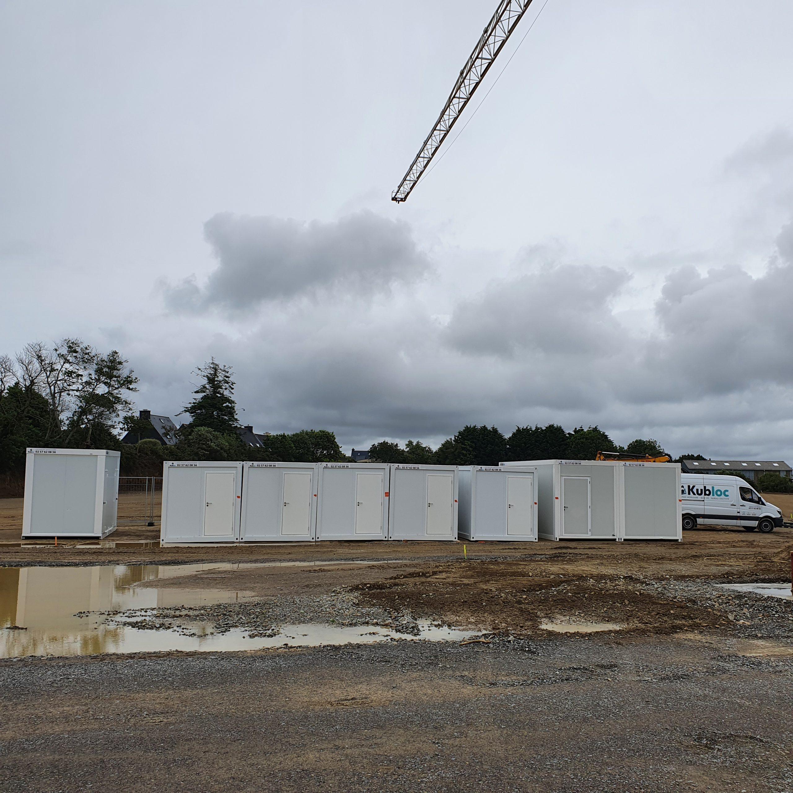 Base de vie 8 modules à Brest